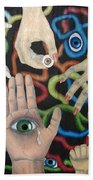 Hands And Eyes Beach Towel