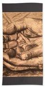 Hands Of Poverty Beach Towel