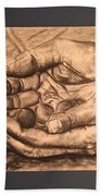 Hands Of Poverty Beach Sheet