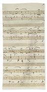 Handwritten Score For Waltz In Flat Major Beach Towel