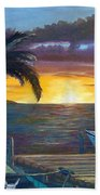Hang Loose Harbor Beach Towel
