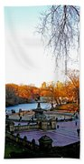 Hangin' At Bethesda Fountain Beach Towel