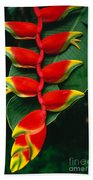 Hanging Heliconia Beach Towel