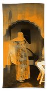 Hanging Out Travel Exotic Arches Orange Abstract Square India Rajasthan 1c Beach Towel