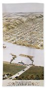 Hannibal, Missouri, 1869 Beach Towel