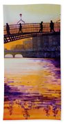Ha'penny Bridge Dublin Beach Towel