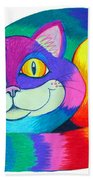 Happy Cat Beach Towel