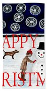 Happy Christmas 29 Beach Towel by Patrick J Murphy
