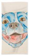 Happy Dog Blue Beach Towel