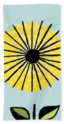 Happy Flowers Beach Towel