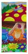 Happy Frog Meadows Beach Towel
