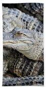 Happy Gator Beach Towel