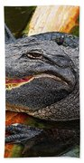 Happy Gator Beach Towel