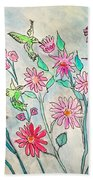 Happy Hummingbirds Beach Towel