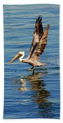 Happy Landing Pelican Beach Towel