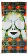 Happy Monkey Beach Towel