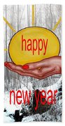 Happy New Year 22 Beach Towel