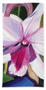 Happy Orchid Beach Towel