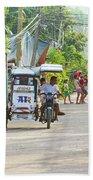 Happy Philippine Street Scene Beach Sheet