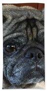 Happy Pug Beach Towel
