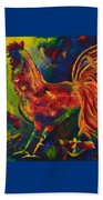 Happy Rooster Family Beach Towel