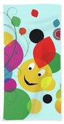 Happy Spring Image Beach Towel
