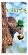 Happy St. Pat's Day Card Beach Towel