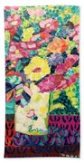 Happy Summer Flowers Beach Sheet