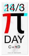 Happy Tau And Pi Day Beach Sheet