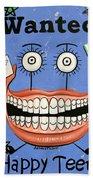 Happy Teeth Beach Towel