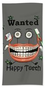 Happy Teeth T-shirt Beach Towel