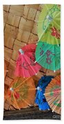 Happy Umbrellas Beach Sheet