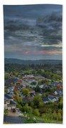 Happy Valley Residential Neighborhood During Sunset Beach Towel