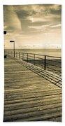 Harbor Beach Michigan Boardwalk Beach Towel
