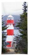 Harbor Breton Lighthouse Beach Towel