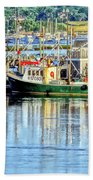 Harbor Morning Beach Towel