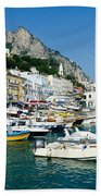 Harbor Of Isle Of Capri Beach Towel by Jon Berghoff