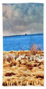 Harbor Of Tranquility Beach Towel