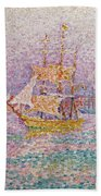 Harbour At Marseilles Beach Towel