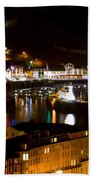Harbour At Night Beach Towel