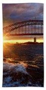 Harbour Bridge Sunset By Kaye Menner Beach Towel