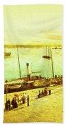 Harbour Parasols Beach Sheet by Sarah Vernon