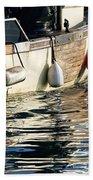 Harbour Reflections 3 - June 2015 Beach Towel