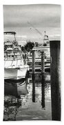 Harbour Scene Beach Towel