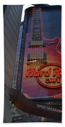 Hard Rock Cafe N Y C Beach Towel