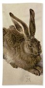 Hare Beach Towel by Albrecht Durer