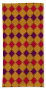 Harlequin Gold Purple Coral Beach Towel