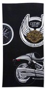 Harley Davidson 105th Anniversary Beach Towel