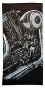 Harley Engine Beach Towel