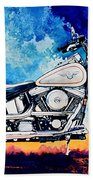 Harley Hog II Beach Towel